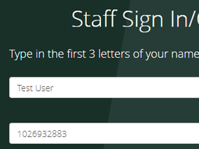 Staff sign in on GWR digigreet