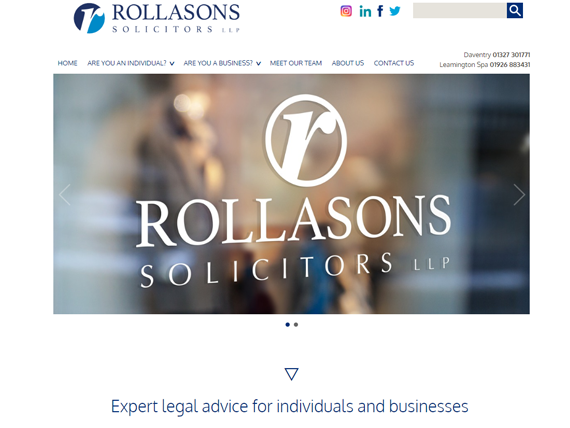 Rollasons home page