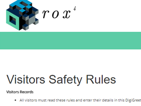 Rox DigiGreet Visitor Saftey