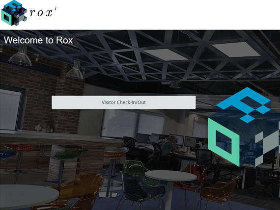 Rox Digital Visitor Management Homepage