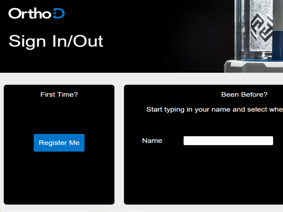 Orthod digital sign in system homepage